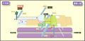 Chayagasaka station map Nagoya subway's Meijo line 2014.png