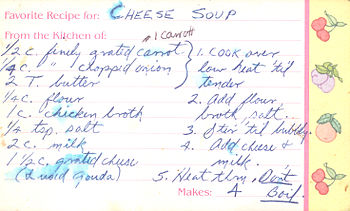 Cheese Soup Recipe