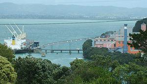 Chelsea Sugar Refinery - The bulk carrier Port Alice docked at Chelsea Wharf for unloading
