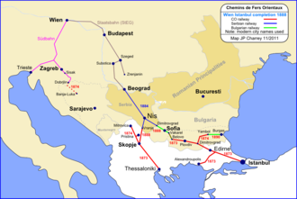 Chemins de fer Orientaux - Image: Chemins de fer Orientaux, 1888
