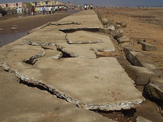 Disaster risk reduction - Chennai damage after 2004 Indian Ocean Earthquake