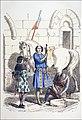 Chevalier, secondé de son Page et de son Ecuyer. Gravure 19e.jpg