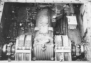 Type 3 Chi-Nu - Type 3 Chi-Nu during assembly process, showing its transmission and partially installed controls
