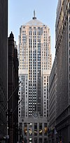 Chicago Board of Trade Building from the north up LaSalle Street
