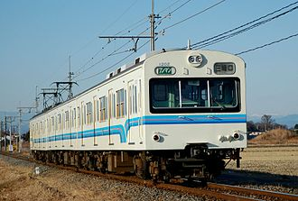 Chichibu Railway 1000 series - 1000 series set 1002 in the second livery in January 2008