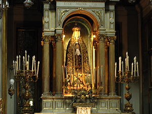 Santa Brigida, Naples - Statua della Madonna Addolorata