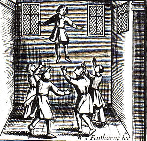 Saducismus Triumphatus - Illustration on child levitation.