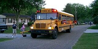 Students boarding school bus in Louisiana