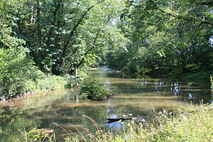 East Chillisquaque Township, Northumberland County, Pennsylvania - Chillisquaque Creek looking upstream in East Chillisquaque Township