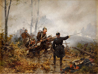 Battle of Le Mans - The 17th (4th Westphalian) Infantry Regiment at Le Mans by Christian Sell