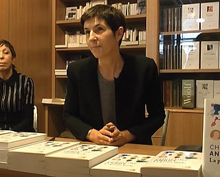 Christine Angot French writer/novelist/playwright