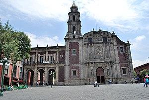 Santo Domingo (Mexico City) - Facade of the Church of Santo Domingo