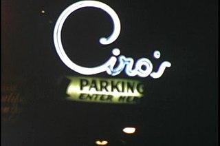 Ciros nightclub in West Hollywood, California