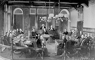 Halifax City Hall - City Council and Department Heads, 1903. Composite photo by Notman Studio.