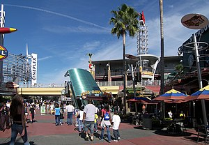Universal CityWalk - The entrance plaza to CityWalk Orlando.