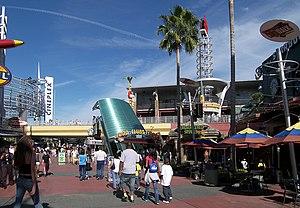 Universal CityWalk - The entrance plaza to CityWalk Orlando.