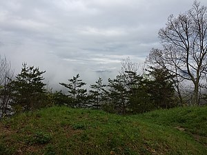 National Register of Historic Places listings in Harlan County, Kentucky - Image: Civil War earthworks at Cumberland Gap, Middlesboro, Kentucky