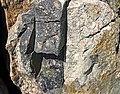 Clast-rich impact pseudotachylite (Sudbury Breccia, Paleoproterozoic, 1.85 Ga; Windy Lake Northwest roadcut, Sudbury Impact Structure, Ontario, Canada) 9 (33858899208).jpg