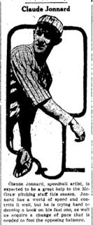 Claude Jonnard American baseball player