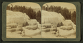 Cleopatra Terrace and its mirror like pools - Mammoth Hot Springs, Yellowstone Park, U.S.A, by Underwood & Underwood 3.png