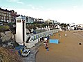 Cliff lift and beach huts, Broadstairs - geograph.org.uk - 1600304.jpg