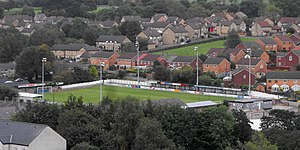 Clitheroe F.C. - Clitheroe F.C. ground at Shawbridge