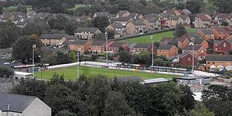 Clitheroe F.C. - Clitheroe F.C. ground at Shawbridge