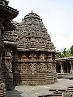 Profile of a Hoysala temple at Somanathapura