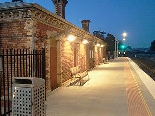 Clunes railway station, Victoria