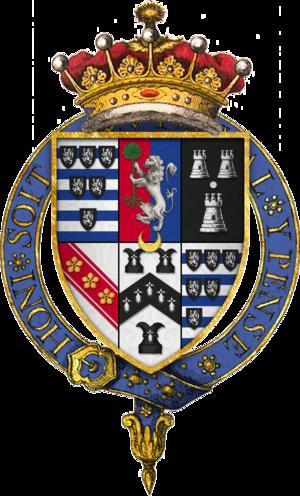 Robert Cecil, 1st Earl of Salisbury - Quartered arms of Sir Robert Cecil, 1st Earl of Salisbury, KG
