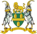 Coat of arms of Johannesburg, South Africa (1966–1997).png