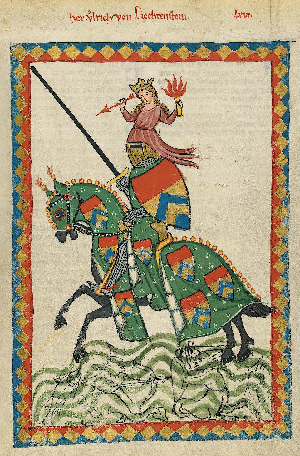 Codex Manesse Ulrich von Liechtenstein
