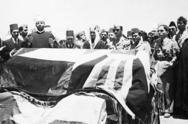 Ataúd del rey Abdullah I en Jordania, 29 de julio de 1951.png