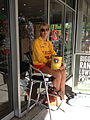 Collecting donations for Surf Life Saving.JPG