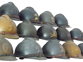 Adrian helmet - Collection of Adrian helmets from various regiments and nations