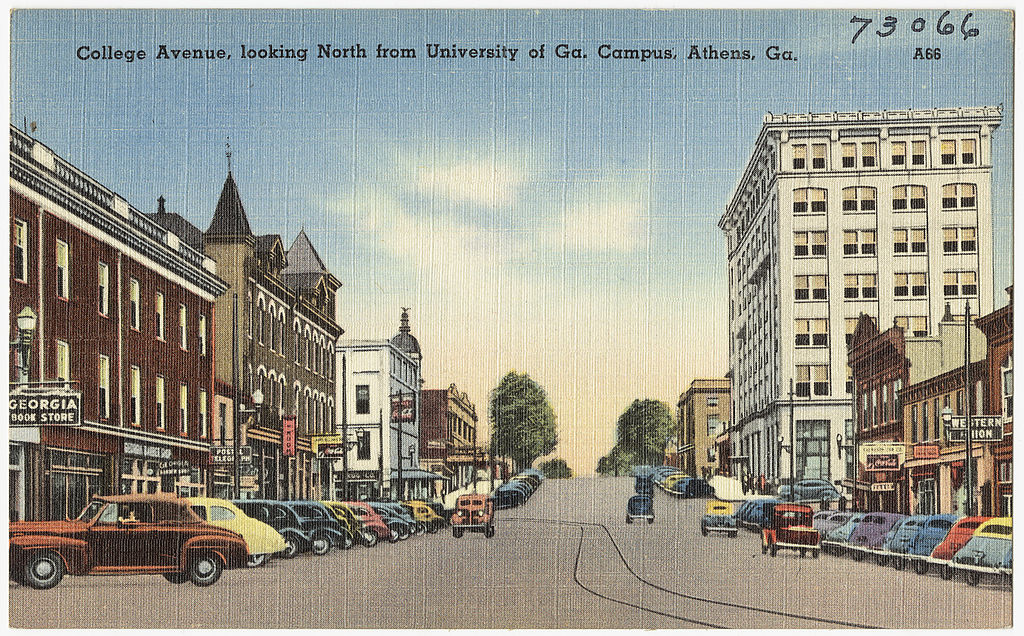 College Avenue, looking north from University at Ga. campus, Athens, Ga. [8343898180).jpg