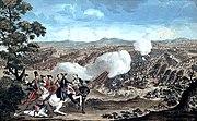 Colored Print Battle of Minden 1785