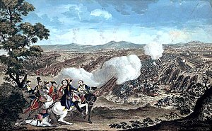 Charles Cornwallis, 1st Marquess Cornwallis - Colour print of the Battle of Minden, c. 1785