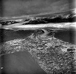 Columbia Glacier, Terentiev Lake, Calving Distributary with Oblique View of Valley Glacier, September 10, 1972 (GLACIERS 1227).jpg