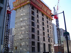Comcast Center - Comcast Center's concrete core