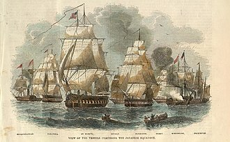 Matthew C. Perry - Commodore Perry's fleet for his second visit to Japan, 1854