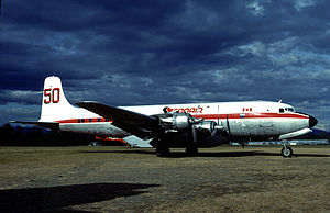 Abbotsford International Airport - A Douglas DC-6 of Conair in 1983