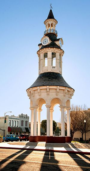 National Register of Historic Places listings in Tehama County, California - Image: Cone and Kimball Clock Tower in Red Bluff California February 2011