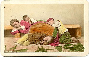 Giorgio Conrad (1827-1889) - A homeless mother...