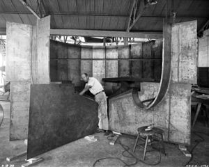 Charles H. Zimmerman - The 5 Foot Vertical Wind Tunnel was built to study spinning characteristics of aircraft. It was an open throat tunnel capable of a maximum speed of 80 mph. NACA engineer Charles H. Zimmerman designed the tunnel starting in 1928.