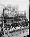 Construction of the fifth and sixth floors at the Smith Tower construction site, Seattle, Washington, October 26, 1912 (SEATTLE 4894).jpg