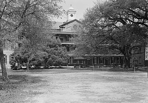 Convent and Academy of the Visitation - The south building in 1937, also part of the 1855 construction.
