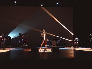 Coral no palco do Minas Tênis Clube