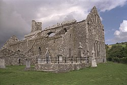 Corcomroe Abbey as viewed from the southeast