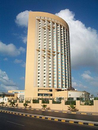 2015 Corinthia Hotel attack - The Corinthia Hotel main tower